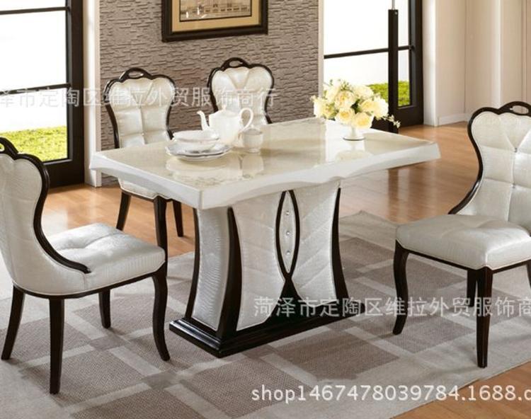 定做 餐桌餐椅 欧式 黑白简约外露式实木框架设计无扶手餐椅