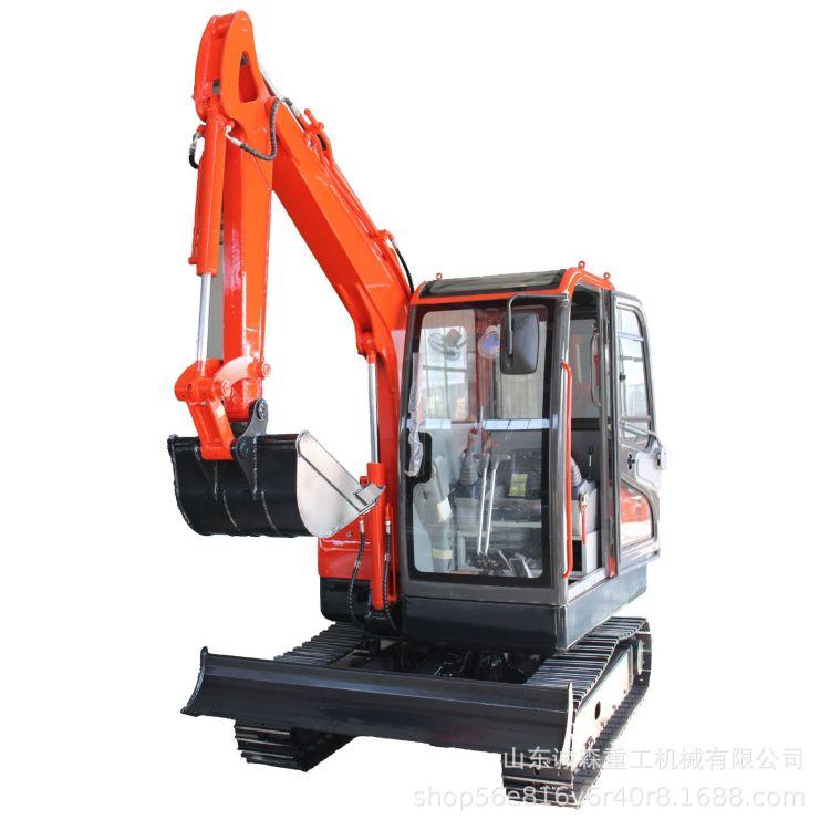 多功能挖掘机 农用35型小挖机 果园专业小型挖掘机 专业定制