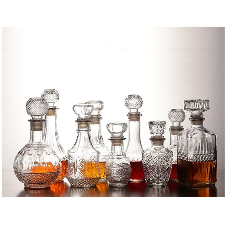 定制透明玻璃红酒瓶自酿葡萄酒瓶500ml750mll醒酒器高档洋酒瓶