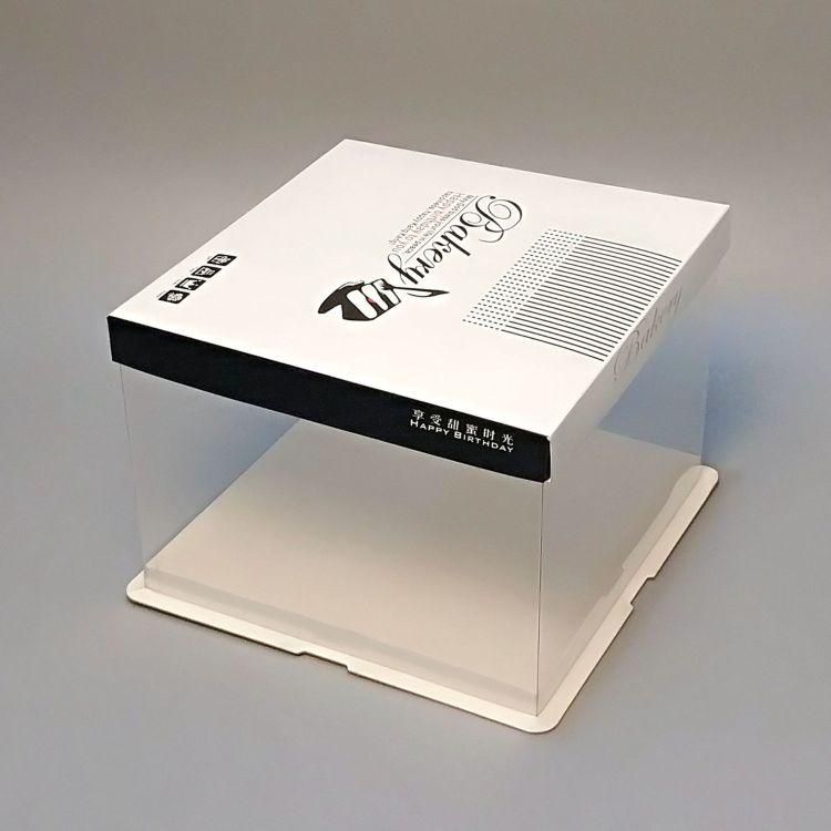 供应 透明蛋糕盒定制 双层加高透明生日蛋糕盒 8寸芭比透明蛋糕盒