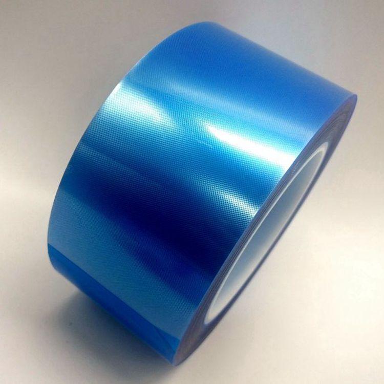 pet蓝膜批发 蓝色网纹保护膜 PET电芯网格保护膜 耐用高温保护膜