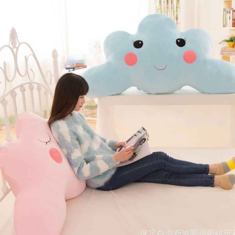 可爱大号云朵毛绒抱枕定制抱枕白云床头靠垫孕妇枕有内胆一件代发