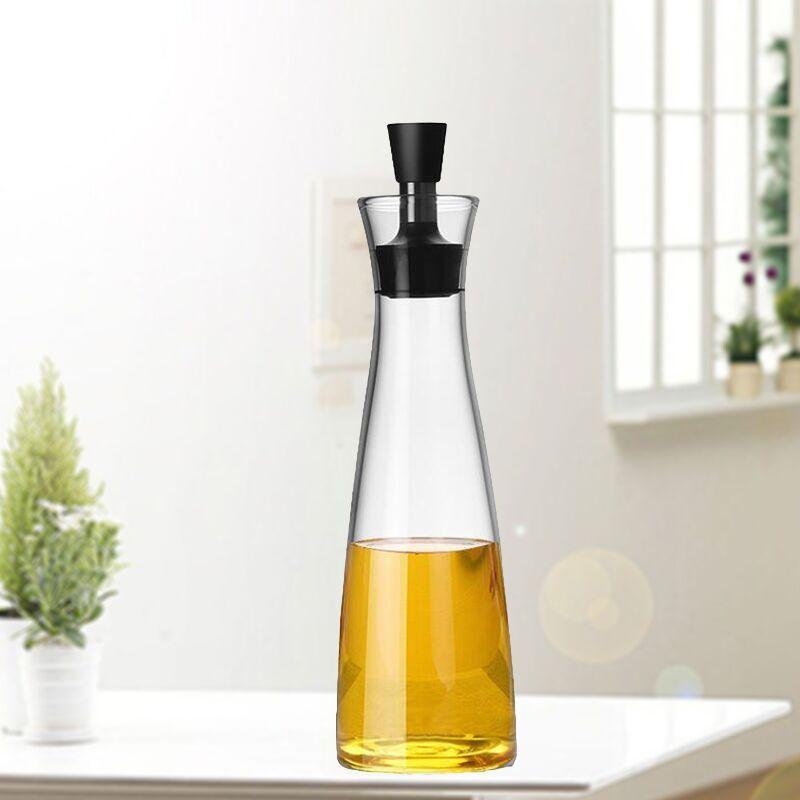 厂家供应厨房用品玻璃油醋壶油瓶调味瓶控油瓶安全健康带盖玻璃壶