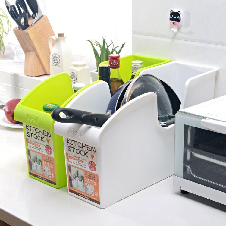 带轮厨房收纳箱 多用调味瓶锅盖架收纳盒 塑料厨房整理箱批发