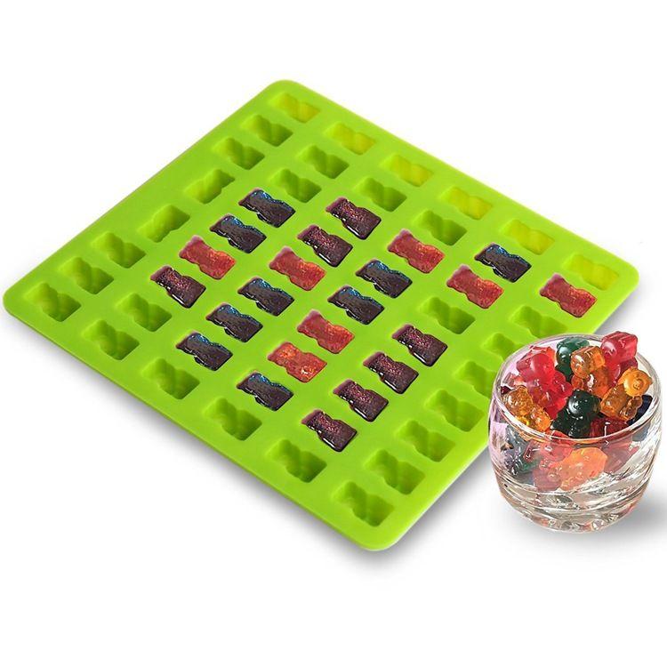 硅胶糖果模 53孔小熊模 动物巧克力模具 53孔小熊造型糖果模