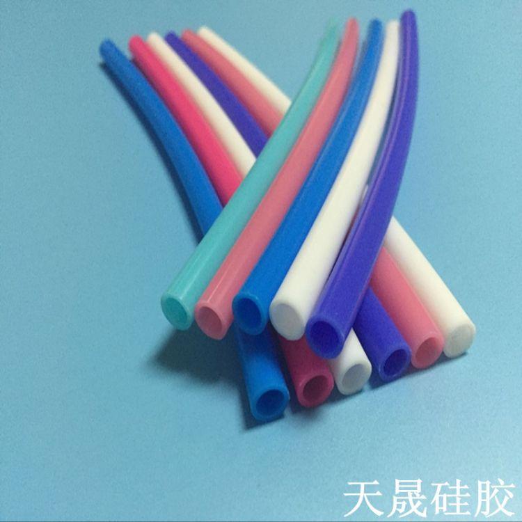 厂家生产食品级彩色硅胶管 有光泽 手感好 质量好 过LFGB