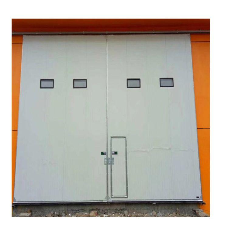 厂房推拉门 工业彩板平移门 电动平移门 保温彩板夹心钢平移门