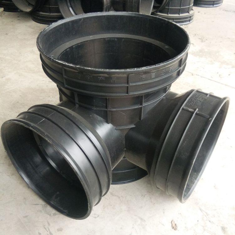 厂家直销塑料检查井雨水排水井沉泥三通井厂家销售