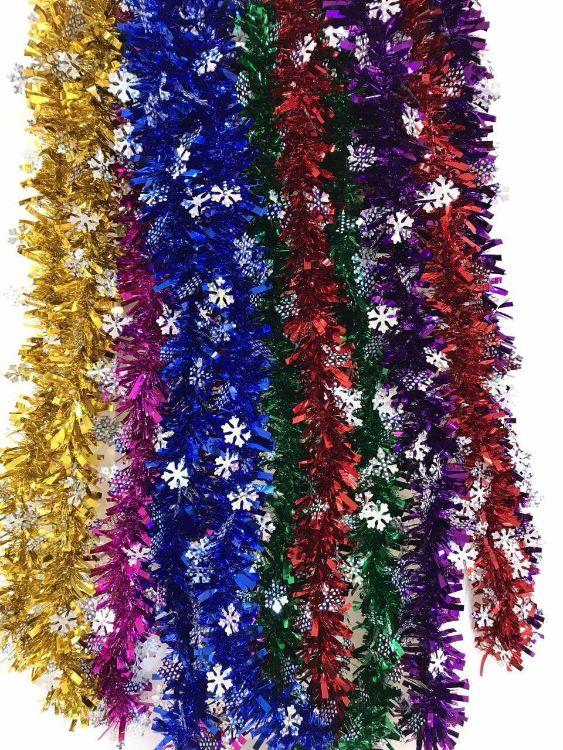 圣诞用品生日派对婚房装饰雪花毛条晚会彩带拉花彩条批发
