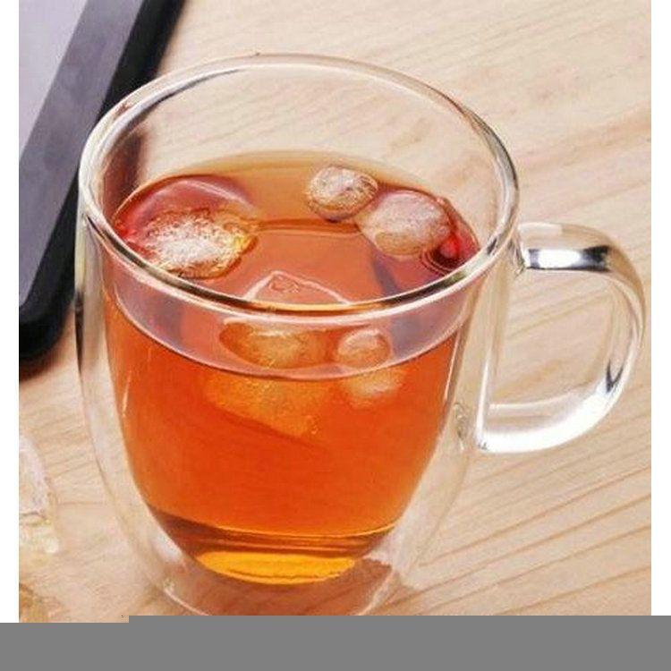 批发双层玻璃杯 创意双层耐热透明玻璃茶杯 玻璃泡茶杯 厂家供应