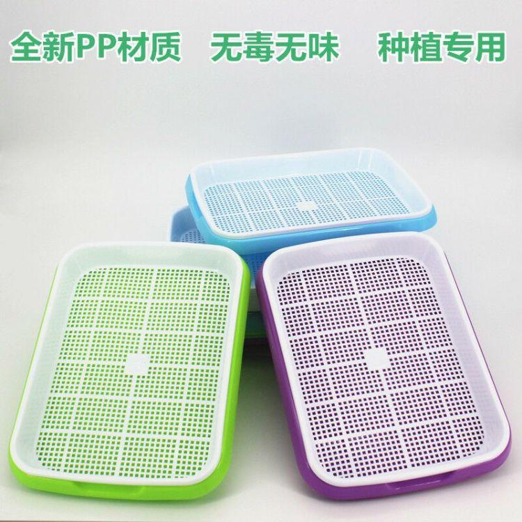 厂家供应 种植双层加密育苗盘 纸上种菜芽苗菜种植育苗盘 多功能