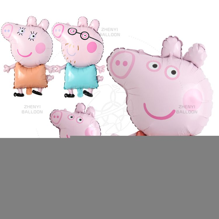 佩奇铝膜气球卡通小猪乔治粉猪佩佩猪铝箔气球生日派对氦汽球批发