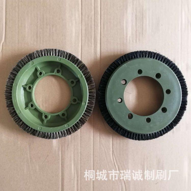 厂家直销定型机毛刷轮 染整毛刷 猪鬃尼龙钢丝轮刷 各种机型刷子