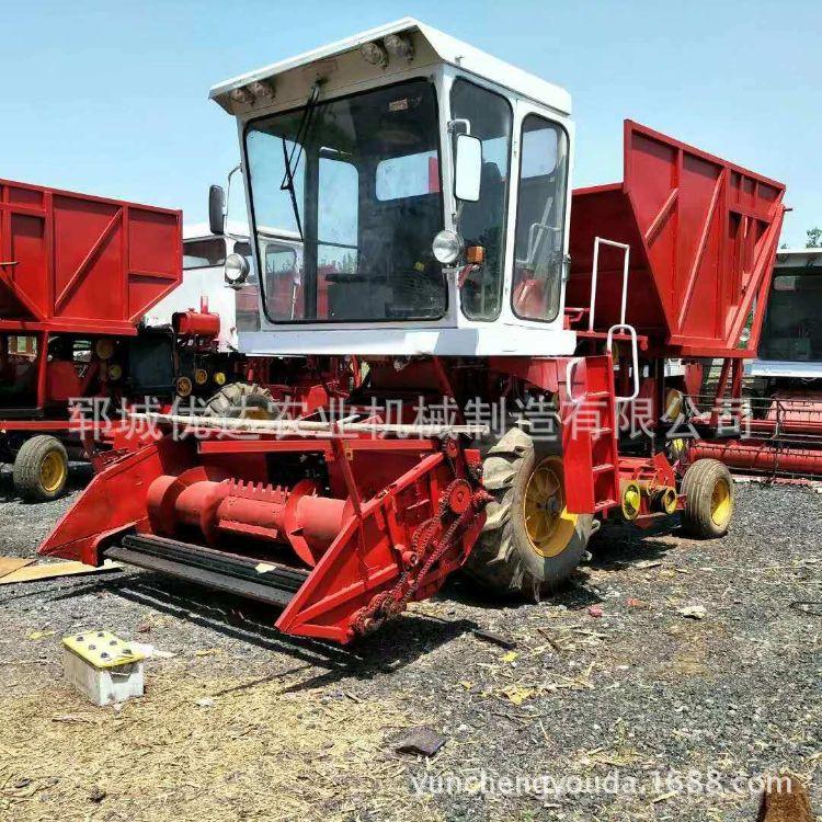 牧草收割机 皇竹草收获机苜蓿草回收机 秸秆粉碎带揉丝功能一体机