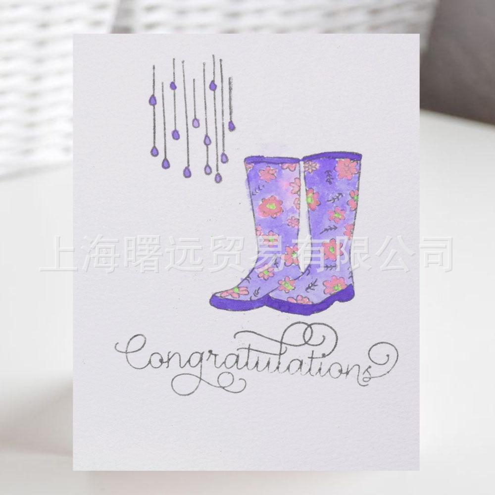 新款 碎花鞋手工透明印章硅胶印章手工印章 diy装饰厂家直销