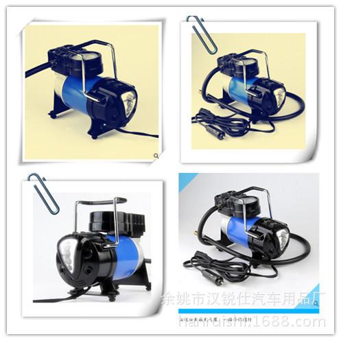 供应单缸车载充气泵  车用电动打气泵 2017新款 LED灯电动充气机
