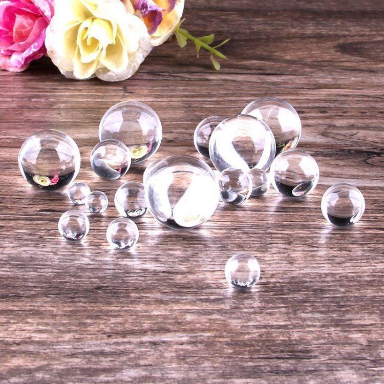 水晶小球珠 玻璃散珠子批发 玻璃微珠圆珠小号各种尺寸装饰道具