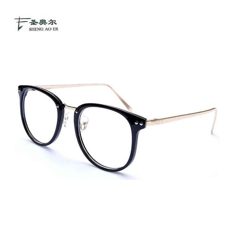 韩版潮女士圆框复古金属眼镜框时尚平光眼镜架 潮框架镜可配近视