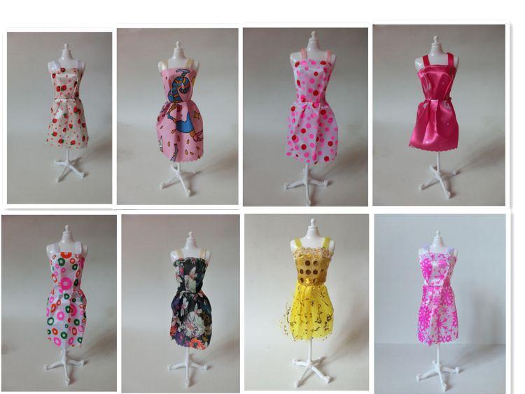 巴比娃娃玩具服饰魔术贴短裙女孩玩具娃娃换装衣服巴比娃娃衣服