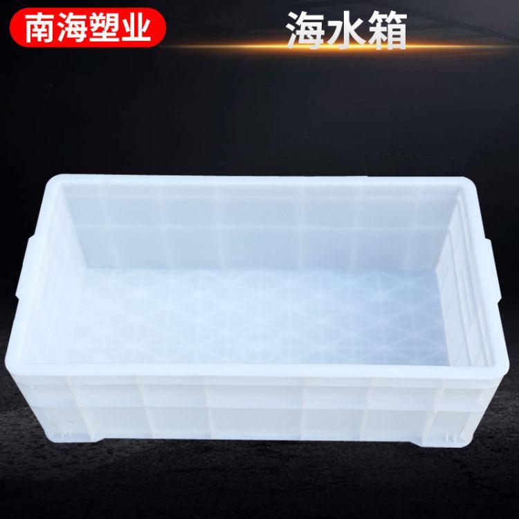 海水箱塑料周转箱 方形塑料水箱 白色塑料周转箱 塑料箱