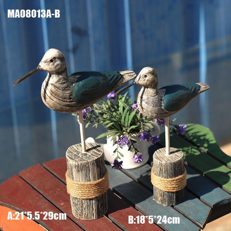 新品工艺品摆件 地中海精美礼品 纯手工 木制家居饰品 MA08013AB