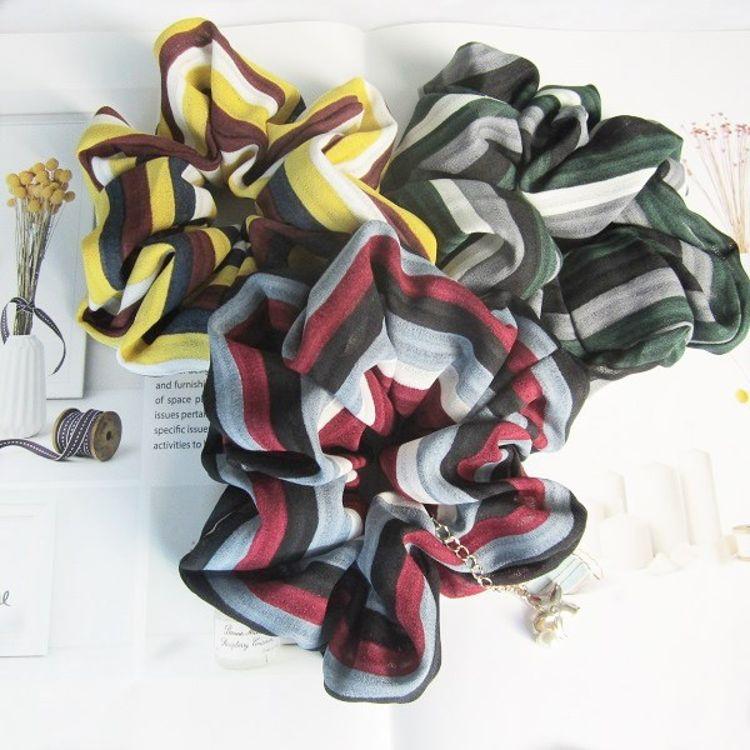 加工定制發飾發圈手工制作日韓熱銷爆款格紋波浪皮筋布藝發圈發繩