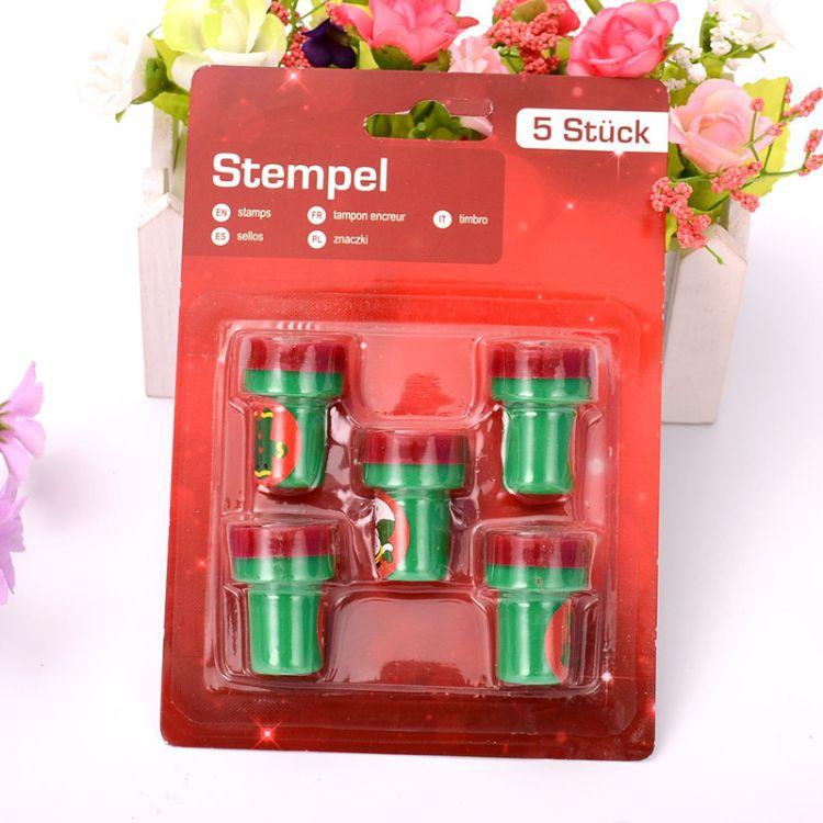 卡通动物儿童玩具印章 塑料印章吸卡吸塑套装 环保橡皮印章定制