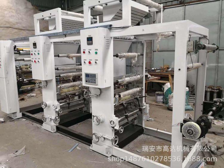 厂家直销四色 opp pvc薄膜  塑料袋凹版印刷机 双烘道 离行风机