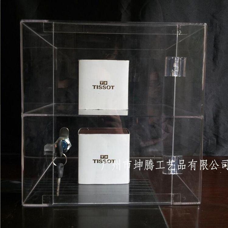 透明亚克力展示柜收纳化妆品陈列柜亚克力收纳盒亚克力盒子定制