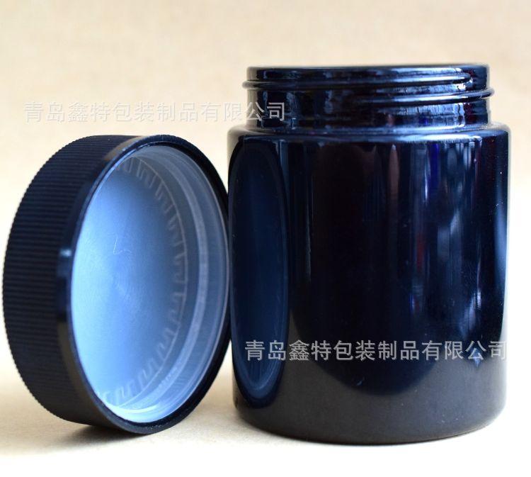 批发2-4oz 黑色母料玻璃瓶 烟油瓶 膏油瓶 电子烟玻璃瓶