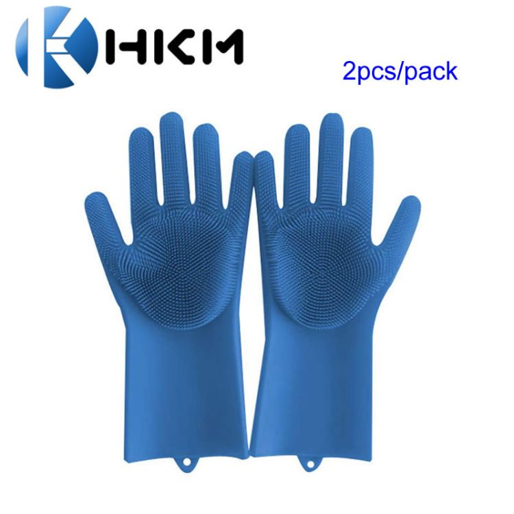亚马逊抖音Magic silicone glove硅胶魔术洗碗手套洗碗刷清洁手套