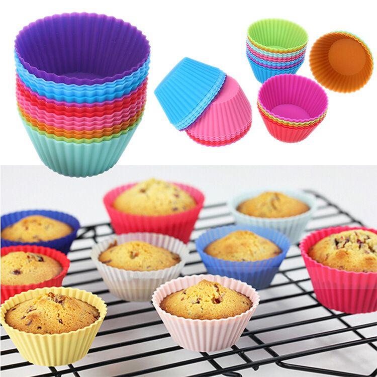 硅胶蛋糕杯 加厚圆形马芬杯 厂家直销蛋糕杯 蛋糕模具烘焙模具