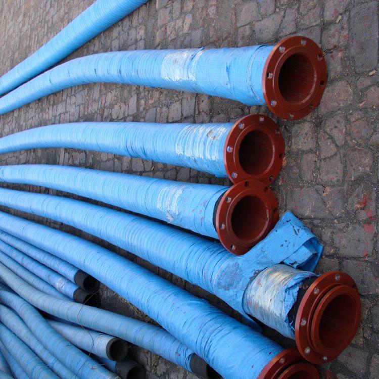供应大口径法兰式胶管 大口径耐磨胶管 过泥沙大口径耐磨胶管
