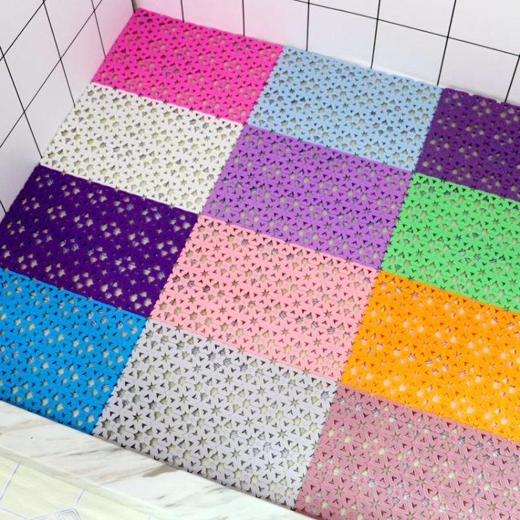 糖果色 DIY 爱心自由拼接浴室防滑垫 隔水垫拼接垫