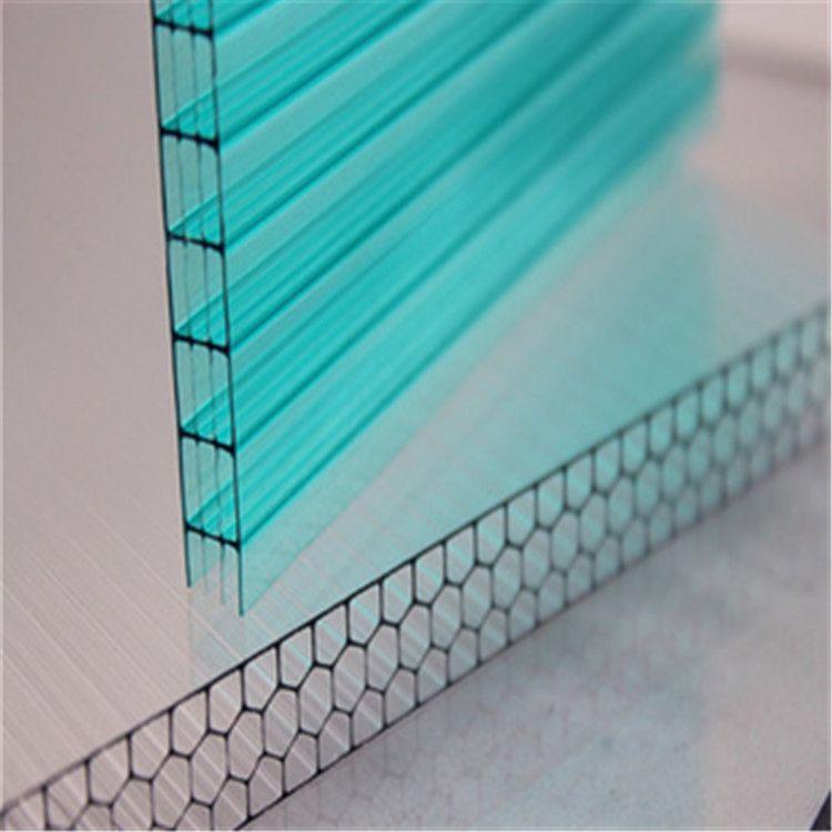 奥米茄四层pc阳光板 pc板中空阳光板耐力板  透明中空阳光板价格