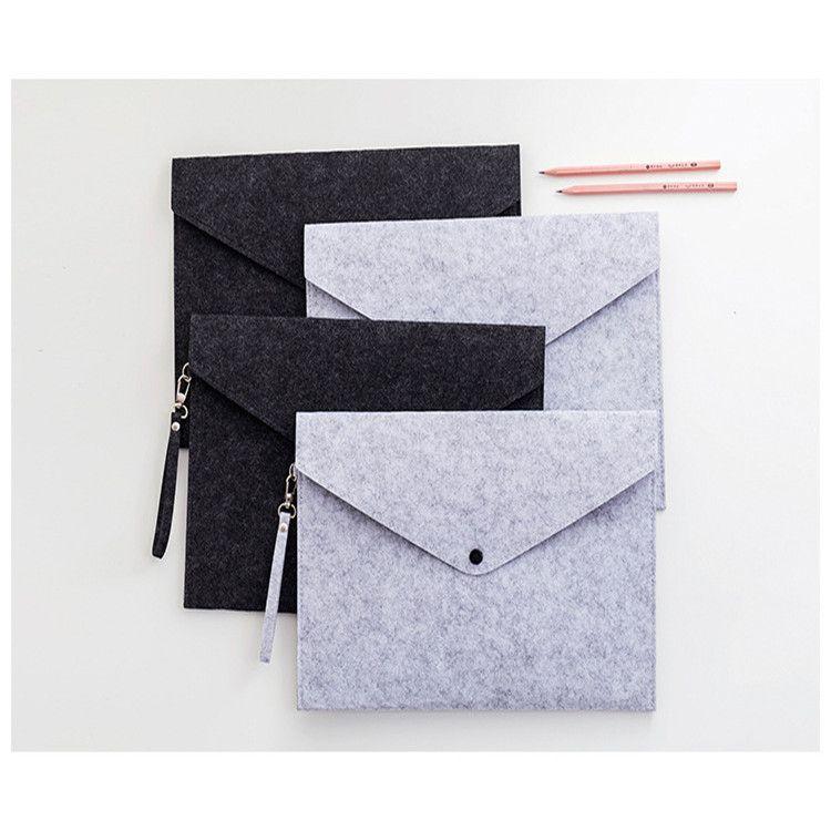 毛毡手提文件夹文件袋定制 手提文件袋 a4公文包定制手提文件包