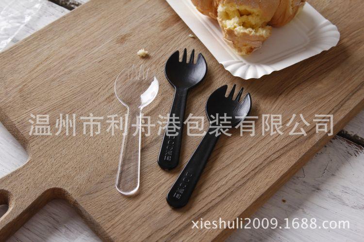 一次性环保塑料叉勺 生日蛋糕叉勺冰淇淋勺西瓜勺布丁刨冰勺批发