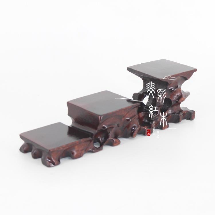 特价手工艺木质工艺品 镂空底座 茶具 微型盆景底托家居木质摆件