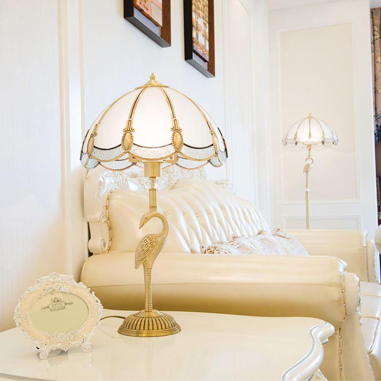 欧式全铜奢华艺术台灯  卧室床头灯欧式台灯美式台灯全铜装饰台灯