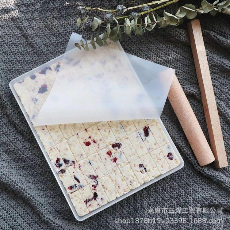 新款牛扎糖手工牛轧糖制作工具2件套装切割磨具不粘模具