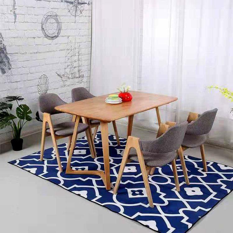 厂家直销北欧实木餐桌椅组合现代实木餐椅 定制实木休闲餐椅