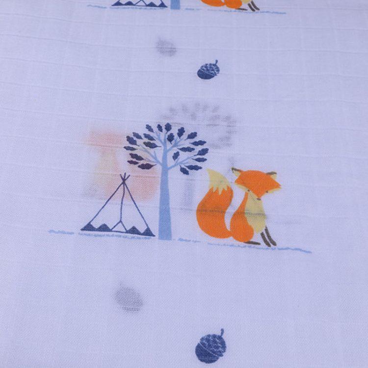 2018夏季欧美muslin竹纤维纱布婴儿包巾双层婴儿包被ins包巾毯子