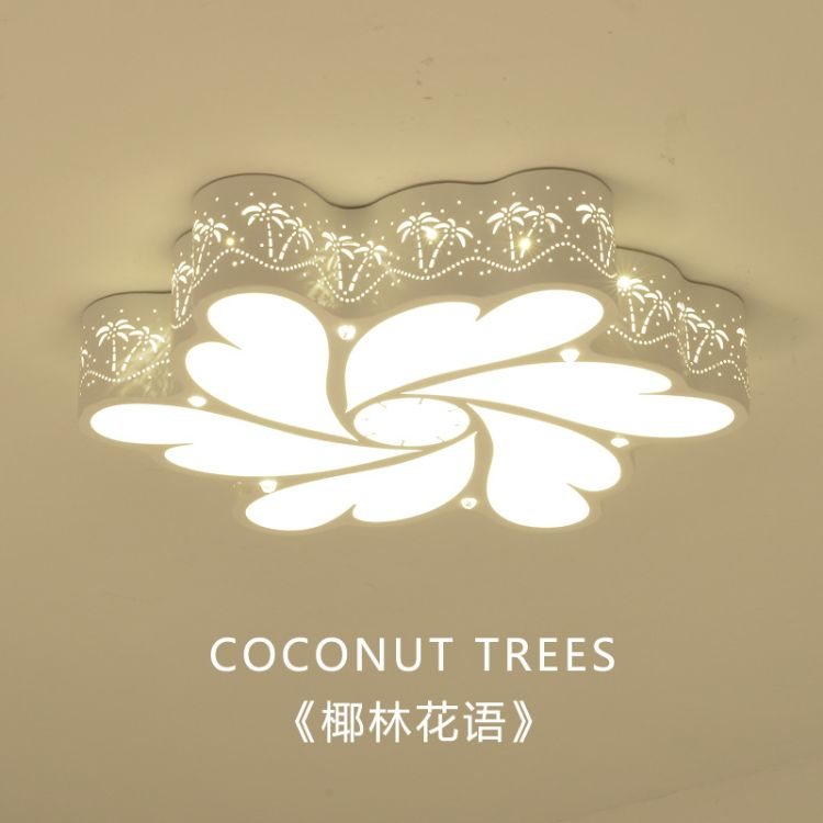LED吸顶灯卧室灯现代简约儿童房灯创意个性铁艺遥控客厅灯