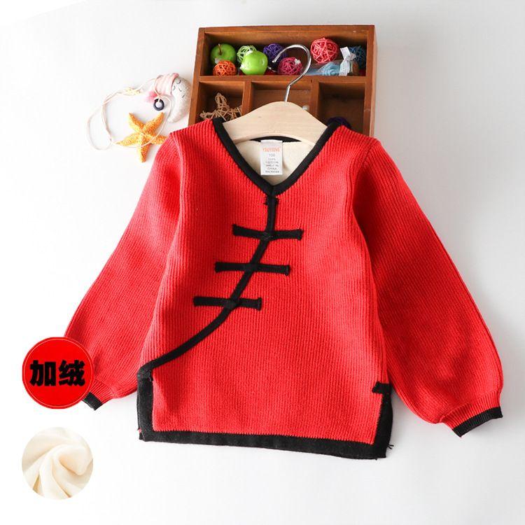 拜年服宝宝女童旗袍冬装加厚婴儿中国风童装新年过年喜庆唐装儿童