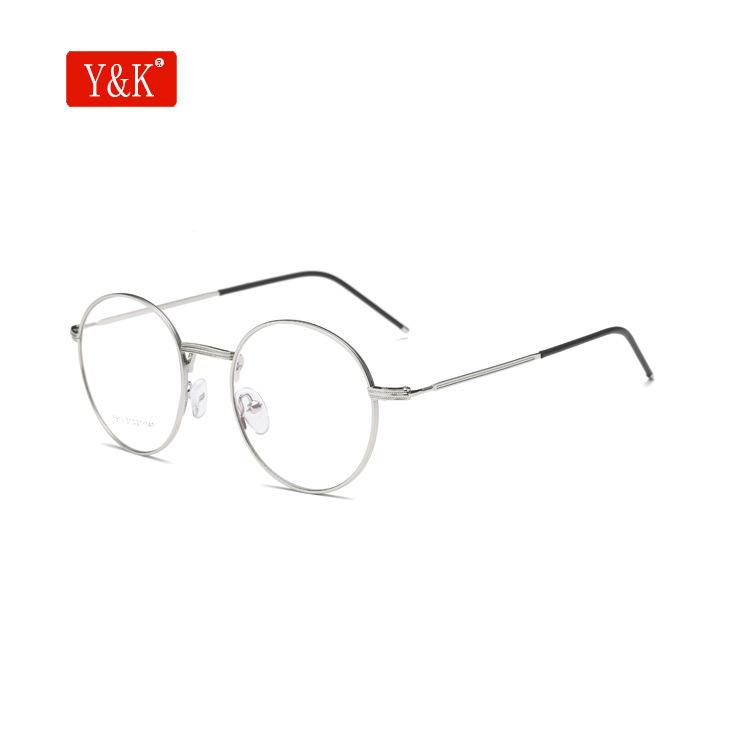 金属圆形细框眼镜架 平光镜近视镜眼镜框潮 超轻复古框架镜5913