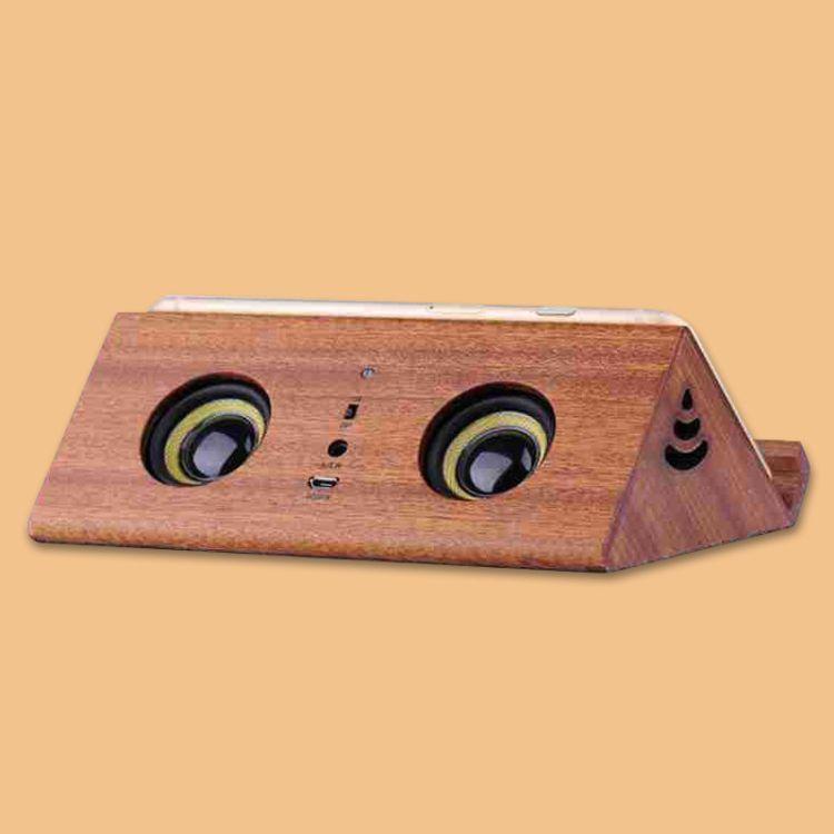 木质工艺品 新款创意感应无线华梨木雕刻音箱工艺品 木质音箱壳