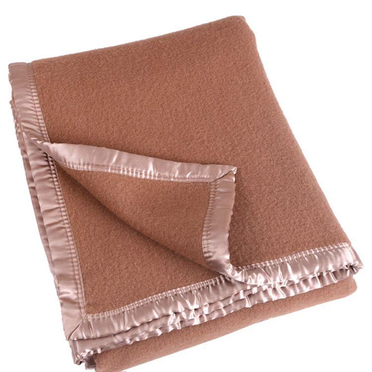 厂家直销长期供应酒店客房用毛毯羊毛毯混纺毛毯定做双面绒毛毯子