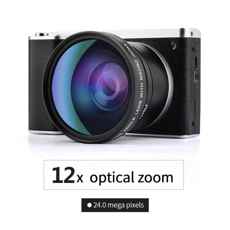 高清2400万像素数码照相机12倍光学变焦伸缩式镜头相机