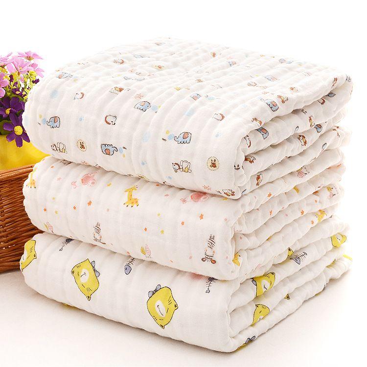 厂家直销6层纯棉浴巾 婴幼儿抱被 水洗纱布儿童浴巾 新生儿盖毯