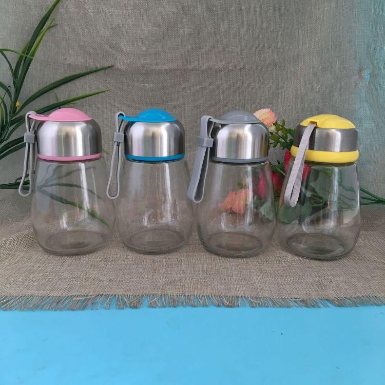 厂家直销企鹅玻璃杯 情侣水杯车载杯随手水杯创意玻璃杯